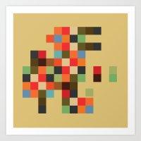 Mid Century Textile Seri… Art Print