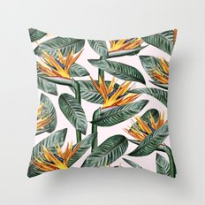 Bird Of Paradise Pattern #society6 #decor #buyart Throw Pillow