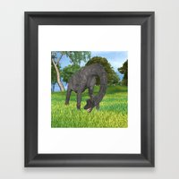 Dinosaur Brachiosaurus Framed Art Print
