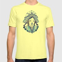 Baby Blue #3 Mens Fitted Tee Lemon SMALL