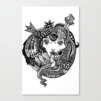 Snakes And Arrows Canvas Print