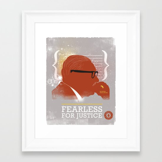 FEARLESS: For Justice Framed Art Print