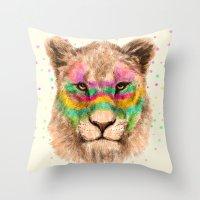 Lioness II Throw Pillow