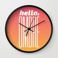 Hello Ombre! Wall Clock