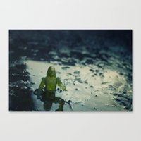 Did You Leave This Down … Canvas Print