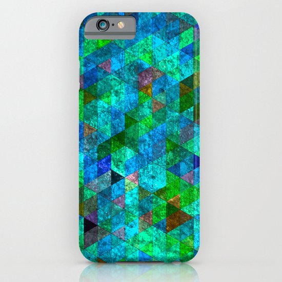 Colored Triangles Green / Blue iPhone & iPod Case
