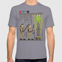 Hero-glyphics: Slimed Mens Fitted Tee Slate SMALL