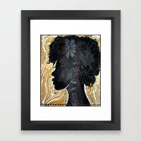 Coco Caramel Framed Art Print
