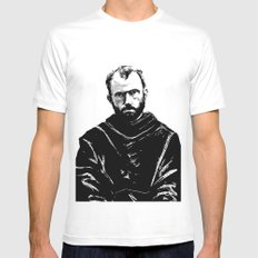 St Maximilian Kolbe SMALL White Mens Fitted Tee