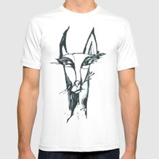 face of the animals White SMALL Mens Fitted Tee