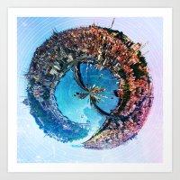 Istanbul's Golden [Sphere] Art Print