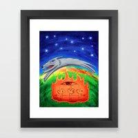 Dogfire Framed Art Print