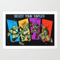 Select Your Turtle Art Print