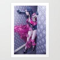 PINK RUBBERWAVE Art Print