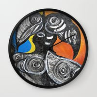 Two Toucans Wall Clock