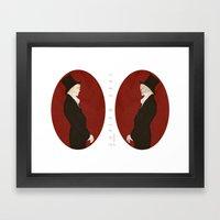 Dorian Gray (Scarlet)  Framed Art Print