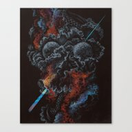 Canvas Print featuring I Am So Sick Of Dying by Anthony Hurd