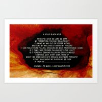 A SOULS BLACK HOLE - 032 Art Print