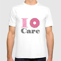 i don't care Mens Fitted Tee White SMALL