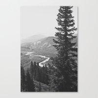 River Through The Mounta… Canvas Print