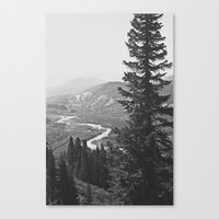 River through the Mountains Canvas Print
