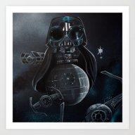 Owl Vader Art Print