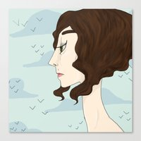 Canvas Print featuring thinking by Suzie