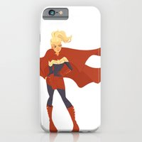 iPhone Cases featuring Captain Marvel by Kelslk