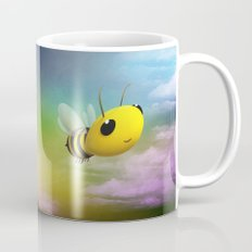 Bee Flying On Colour Sky Mug