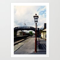 Waiting For A Train Art Print