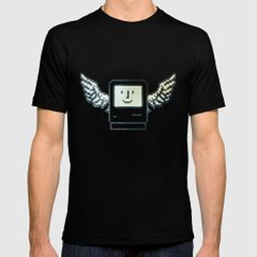 pixel mac with wings Black SMALL Mens Fitted Tee
