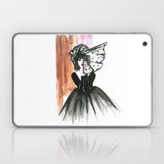 Black Hat Fashion Illust… Laptop & iPad Skin