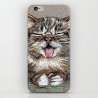 iPhone & iPod Skin featuring Cat *Lil Bub*  by Pendientera
