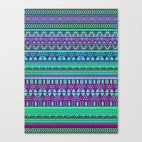 Inspired Aztec Pattern 4 Canvas Print