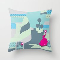 Settling Throw Pillow