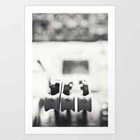 Thrust Levers In Black A… Art Print