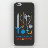 Choose Your Weapon Dark iPhone & iPod Skin