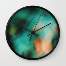 Green And Orange  Wall Clock