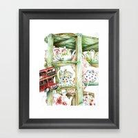 Alice's Teapots Framed Art Print