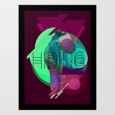 Hiding Tonight Art Print