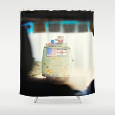 on the road::kenya Shower Curtain