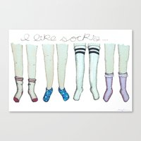 I like socks Canvas Print