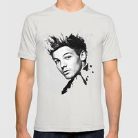Louis Tomlinson Mens Fitted Tee Silver SMALL