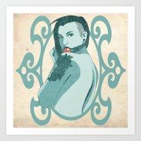 Beauty And The Ball Gag Art Print