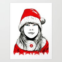 Snow-maiden Art Print
