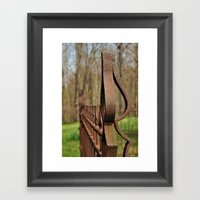 Rusted Wrought Iron.... Framed Art Print