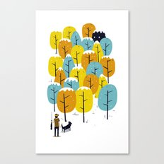 Searching for the monster Canvas Print