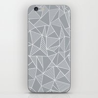 Abstraction Lines Grey iPhone & iPod Skin