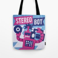 Stereo Bot Tote Bag
