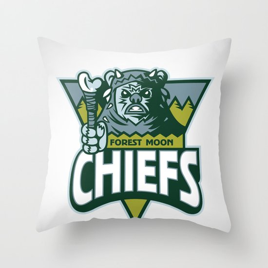 Forest Moon Chiefs Throw Pillow